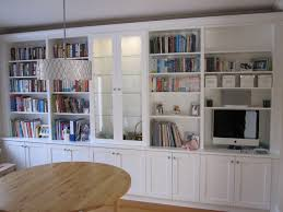 Built In Living Room Furniture White Bookcases With Built In Desk Traditional Living Room