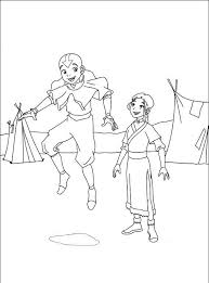 avatar airbender coloring pages printable coloring
