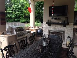 Outdoor Fireplace Houston by Outside Kitchen Design Ideas Houston Patio Goes Mediterranean