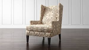 luxe wingback ikat chair crate and barrel