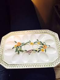 ceramic deviled egg platter vintage ceramic deviled egg plate deviled egg platters