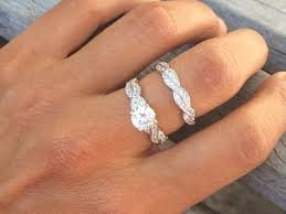 engagement jewelry sets real 1 5 carat cubic zirconia sterling silver engagement ring sets