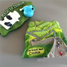 taiwan home decor china travel souvenir landscape fridge magnets the great wall