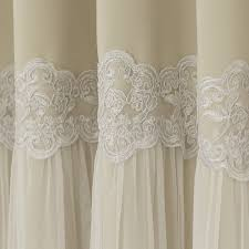 aurora home lace overlay propose blackout grommet top curtain