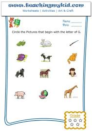 english worksheets for kids circle the pictures that begin with