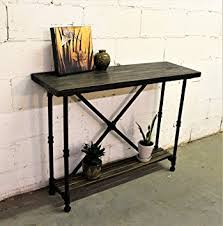 Metal And Wood Sofa Table by Amazon Com Furniture Pipeline Industrial 2 Tier Console Sofa
