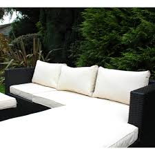 Bentley Garden LShaped Rattan Outdoor Sofa Set - Rattan outdoor sofas