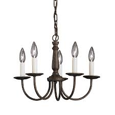 shop kichler salem 17 in 5 light tannery bronze vintage candle