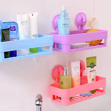 Pink Bathroom Storage Shop 100 New Wall Sucker Bathroom Racks Pp Plastic Shelves