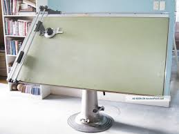 The Drafting Table by Antique Nike Eskilstuna Hydraulic Drafting Table Post 1950 Photo