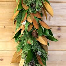 magnolia woodsy garland fall themed home decor by creekside farms