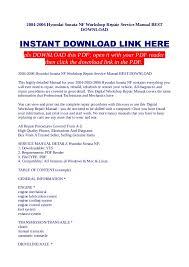 2005 hyundai tucson repair manual 2004 2006 hyundai sonata nf workshop repair service manual best downl