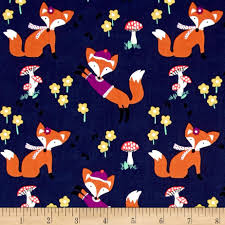 michael miller fox woods lil u0027 foxy navy discount designer fabric