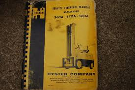 hyster s60a s70a s80a forklift service manual book repair overhaul