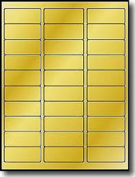 600 metallic gold foil 2 5 8 x 1 laser only address labels use