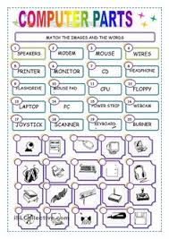 computer parts computers worksheets and 2nd grade worksheets