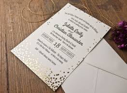 wedding invitations melbourne confetti gold foil wedding invitation papermarc melbourne