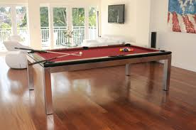 Dining Table And Pool Combination by Tribeca Stainless Dining Billiard Table Modern Billiard Table