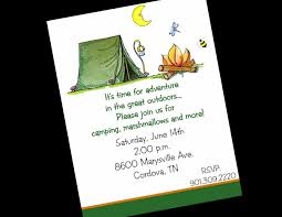 free printable birthday invitations camping birthday ideas