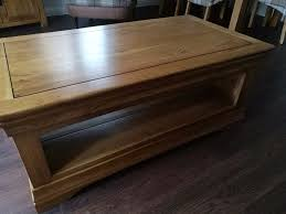 Solid Oak Coffee Table Oak Furniture Land Farmhouse Rustic Solid Oak Coffee