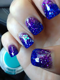 purple and blue ombre acrylic nails fun nail art pinterest ombre