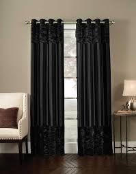decorations elegant black silk curtain room dividers with