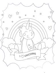 J aime les licornes à imprimer et colorier  Licorne  Pinterest