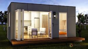 Modern Tiny Home by Novadeko Modular 218 Sq Ft Modern Tiny Home