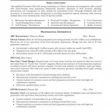 cv sample chef executive resume top resume cover letter