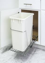 Kitchen Cabinet Trash Can Pull Out Diy Trash Can Pullout Cabinet Trash Can Slider Cabinet 19 In H X