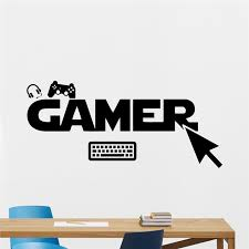 aliexpress com buy gamer gamepads wall decal gaming joystick