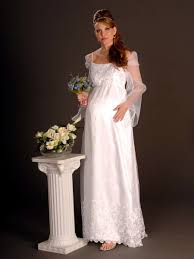 maternity organza scoop spaghetti strap empire wedding dress ma