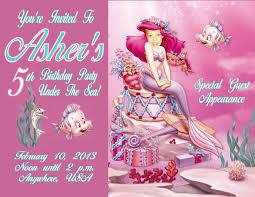 ariel personalized photo birthday invitations 2013a 1 09