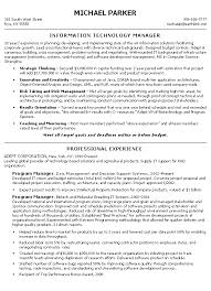 Example Of Project Manager Resume by Manager Resume Example