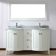 60 Inch White Vanity Bathroom Vanities 60 Sink Bridgeport Inch White Vanity
