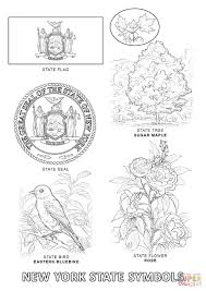new york state symbols coloring page within coloring pages