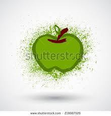 vector apple drawn paint blots stock vector 297452552 shutterstock