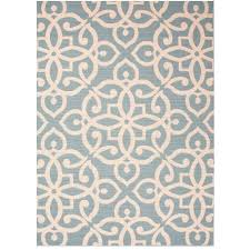 Indoor Outdoor Patio Rugs by Sky Blue Fretwork Pattern Outdoor Rug Sky Blues And Products