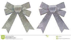decorative bows two silver glitter decorative bows royalty free stock photos