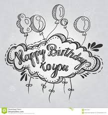 Sketch Birthday Card Greeting Card Happy Birthday To You Hand Drawing Greeting