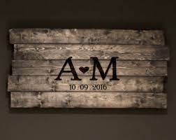 monogrammed guest book rustic real wood wedding guest book sign w mountains