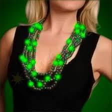 green mardi gras light up mardi gras necklace bongo