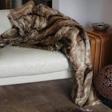 Fox Fur Blanket Faux Fur Elk Throw