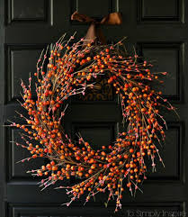 12 diy projects for fall themed wreaths 4 diy easy fall wreath