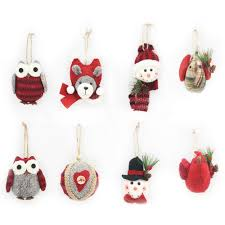 time multi color plush ornaments set of 8 walmart