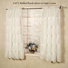 Sheer Ruffled Curtains Sheer Voile Ruffled Window Treatment
