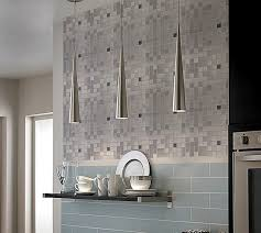 metallic mosaic tile grey square brushed aluminum panel metal wall
