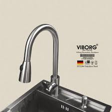 stainless steel kitchen faucet with pull spray aliexpress com buy viborg deluxe 304 stainless steel pull out