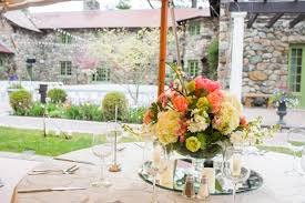 Flower Garden Chairs Outdoor Reception Table Settings Floral Centerpiece White Garden