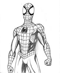 drawn spider man ultimate spiderman pencil and in color drawn